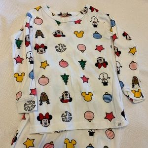 Baby Gap Mickey Mouse holiday pajamas 2T